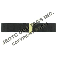 Belt Black W/Brass Tip  (Each)