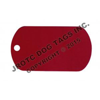 Embossable Red Dog Tags Blank (Box Of 100)