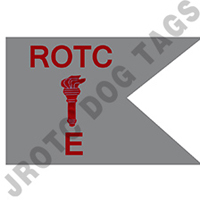 Guidon Flag Rotc With Torch And Letter E (Each) (Allow 3 Months)