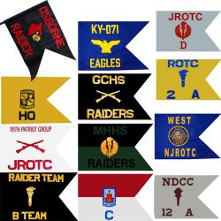 Custom Guidon Flag ROTC/JROTC (Each) (Allow 3 Months)