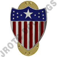 Adjutant General Army Officer Collar Device (Pair)