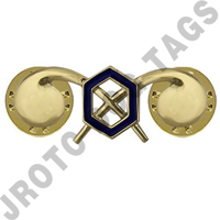 Chemical Army Officer Collar Device (Pair)