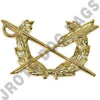 Judge Advocate Army Officer Collar Device (Pair)