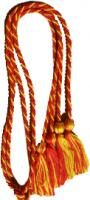 Red / Gold Intertwined Double Graduation Cord (Each)