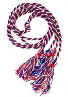 Red/White/Blue Intertwined Double Graduation Cord (Each)