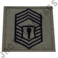Chief Master Sergeant (CMSGT) ABU Rank JROTC Hook Back (Each)