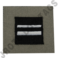 1st Lieutenant (1st LT) ABU Rank ROTC Sew On (Pair)