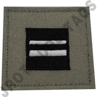 1st Lieutenant (1st LT) ABU Rank ROTC Hook Back (Each)