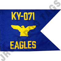 Air Force Guidon Flag with Eagle (Allow 3 Months)