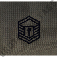 Master Sergeant (MSgt) ABU Rank JROTC Sew On (Pair)