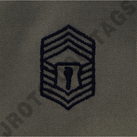 Chief Master Sergeant (CMSgt) ABU Rank JROTC Sew On (Pair)