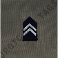 1st Lieutenant (1st LT) ABU Rank JROTC Sew On (Pair)