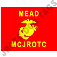 Marine JROTC Guidon Flag with USMC EGA, Custom (Allow 3 Months)
