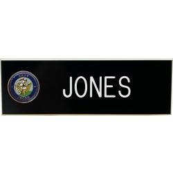 Navy with crest smooth 1x3 name plates