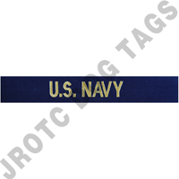 Officer U.S. Navy blue name tape (sew on)
