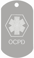 OCPD medical tag T130 -Buy one Get one FREE