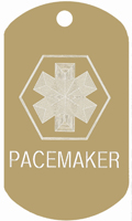 Pacemaker Medical Tag T131 -Buy one Get one FREE