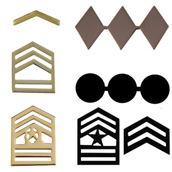 Army Pin On Rank