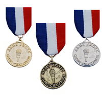 Cadet Command Challenge Chest Medal With Drape (Each)