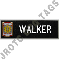 Army JROTC Name Tags with Crest (Each)