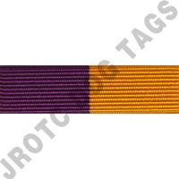 Maroon and Gold Ribbon Optional Color Awards (Each)