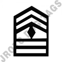1SG Subdued Army rank (pair)