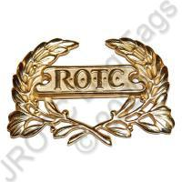 ROTC Wreath Gold Screw Back (Each)
