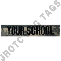 School Nametape ACU/UCP (Each)  (Takes Minimum 2-3 Weeks)