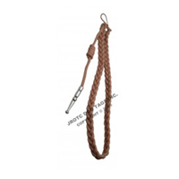 Tan cord with Silver tip - Lanyard Fourragere with Tip (Button Loop) (Each)