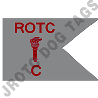Guidon Flag Rotc With Torch And Letter C (Each) (Allow 3 Months)