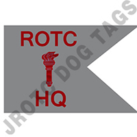 Guidon Flag Rotc With Torch And Letter HQ (Each) (Allow 3 Months)