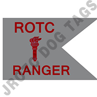 Guidon Flag Rotc With Torch And Letter Ranger (Each) (Allow 3 Months)