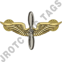 Aviation Army Officer Collar Device (Pair)