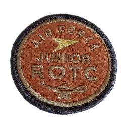 Air Force JROTC Multicam Shoulder Patch (Hook Back)