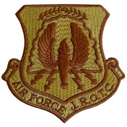 Air Force JROTC Shield Multicam Shoulder Patch (Hook Back)