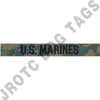 Woodland MCCU U.S. Marines tape sew on (each)