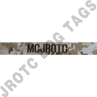 Desert MCCU MCJROTC name tape sew on (each)