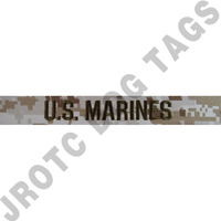 Desert MCCU U.S. Marines name tape sew on (each)