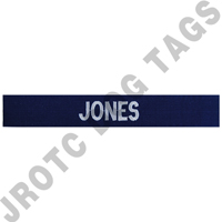 Enlisted Navy Blue Custom Name Tape Sew On (each)