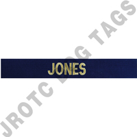 Officer Navy Blue Custom Name Tape Sew On (each)