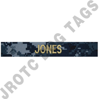 NWU Officer Navy Custom Nametape Sew On (Takes 2-3 Weeks to Ship)