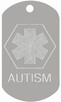 Autism ID Tags T109 Buy one Get one FREE
