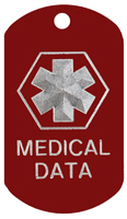 Medical Data ID Tags T097 - Buy one Get one FREE