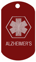 Alzheimers ID Tags T104 - Buy one Get one FREE